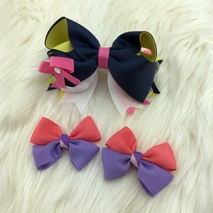 Grosgrain set of head bow ribbons